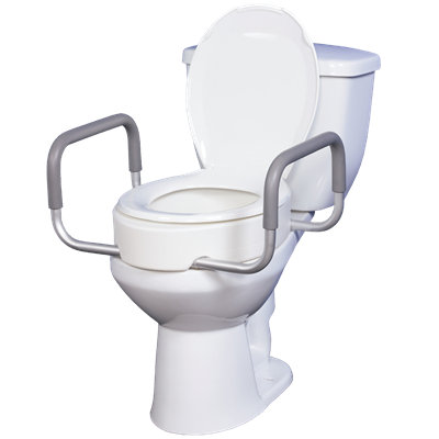Swell Premium Toilet Seat Riser With Removable Arms Caraccident5 Cool Chair Designs And Ideas Caraccident5Info