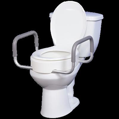 Pleasing Premium Toilet Seat Riser With Removable Arms Customarchery Wood Chair Design Ideas Customarcherynet