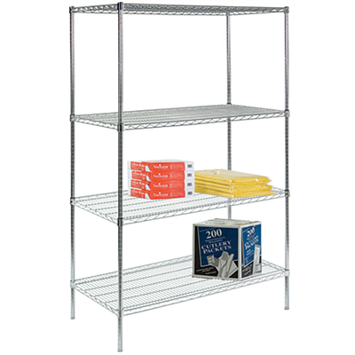 online store b5cd1 7ccb2 4-Shelf Wire Shelving Unit
